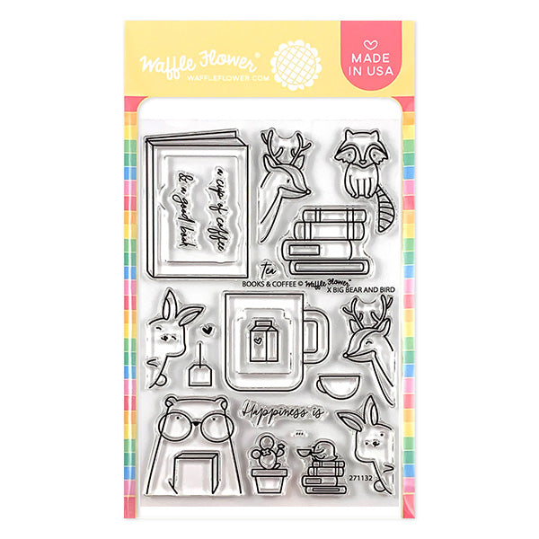Books & Coffee Stamp Set