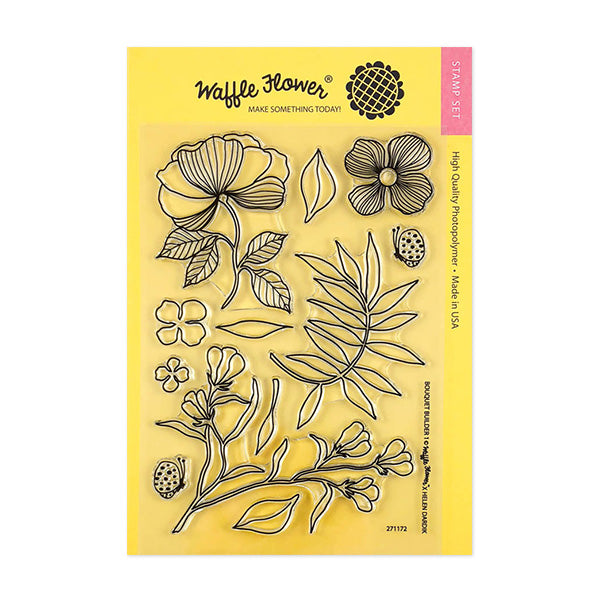 Waffle Flower Bouquet Builder 1 Stamp Set
