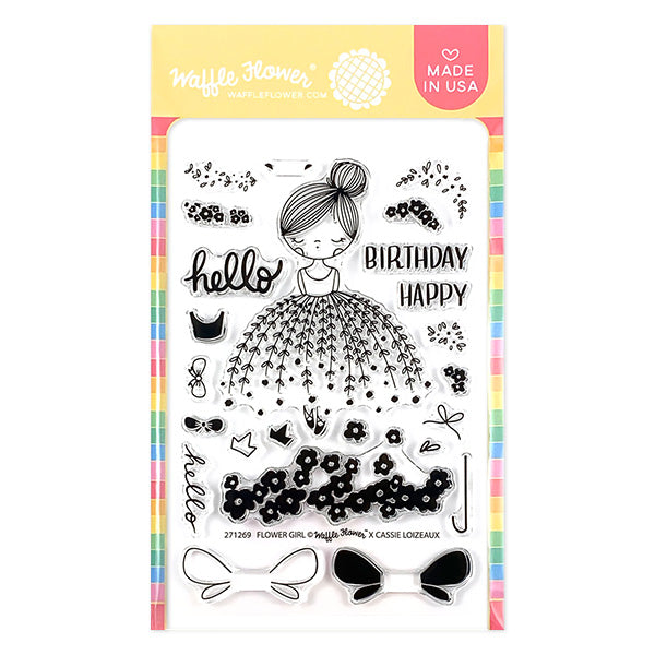 Flower Girl Stamp Set