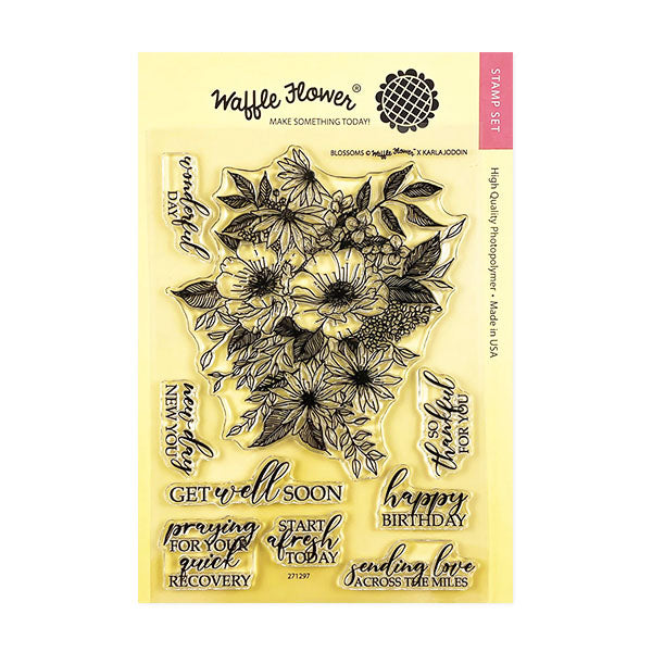 Waffle Flower Blossoms Stamp Set
