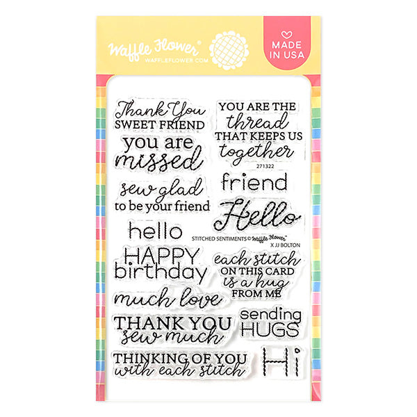 Stitched Sentiments Stamp Set