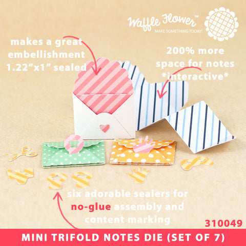 Mini Trifold Notes Die