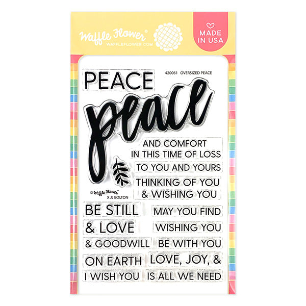 Oversized Peace Stamp Set