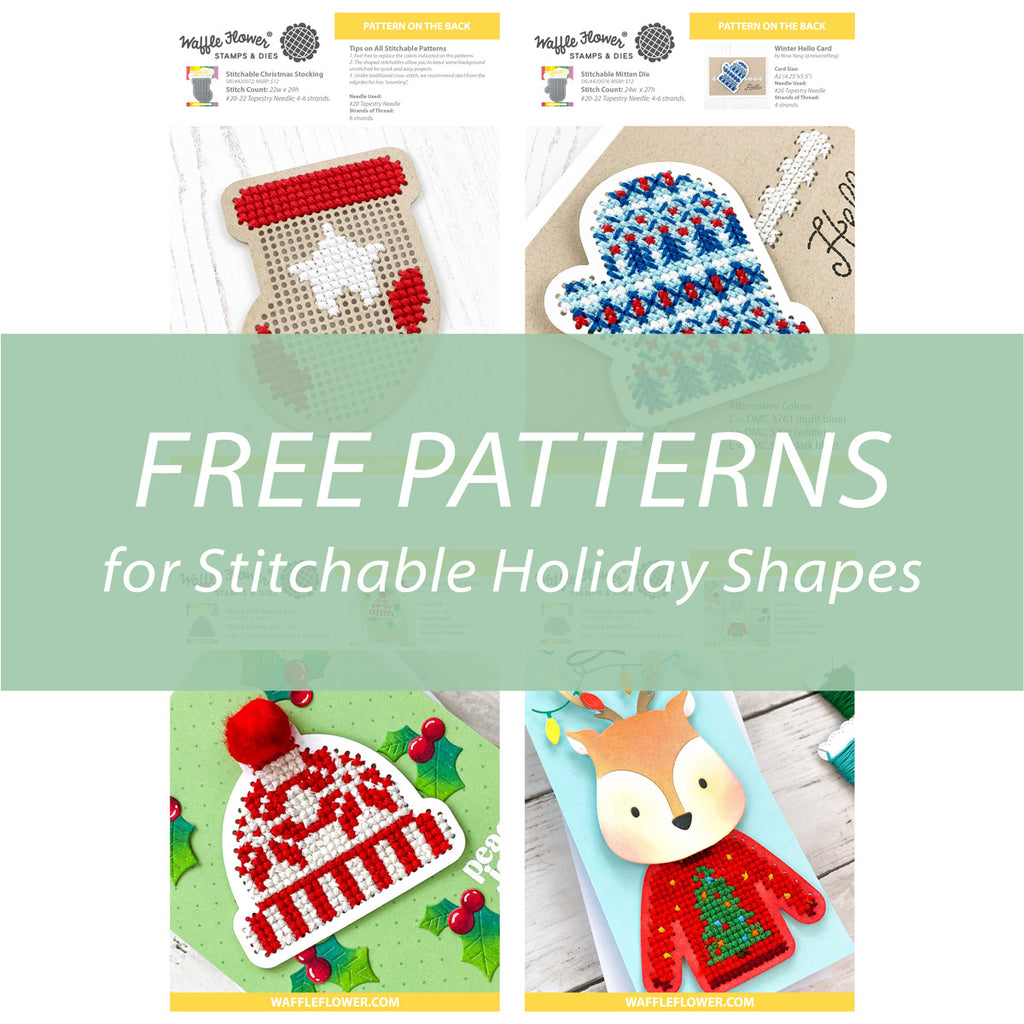 Free Patterns for Stitchable Holiday Shapes