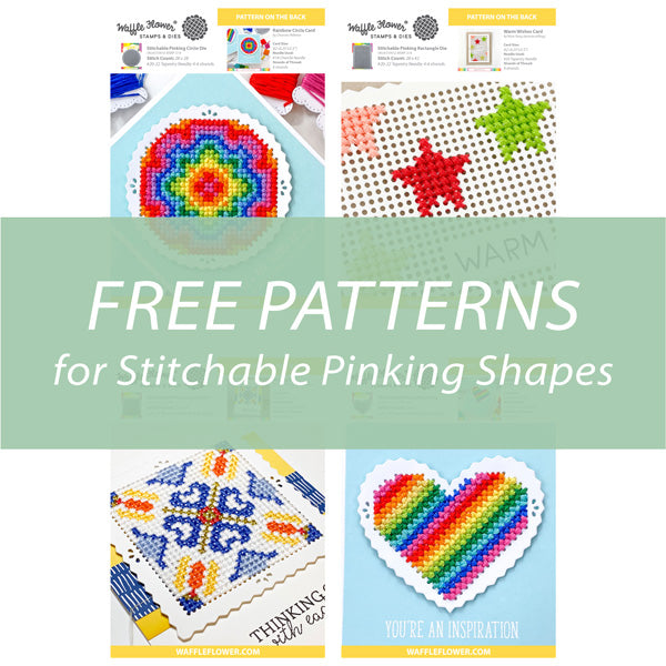 Free Patterns for Stitchable Pinking Shapes