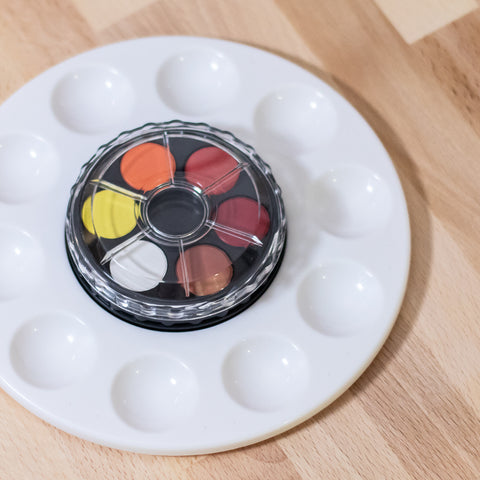 Watercolor Wheel with Palette (12 Colors)