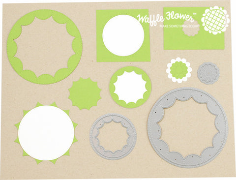 Flower Circles Inverted Die