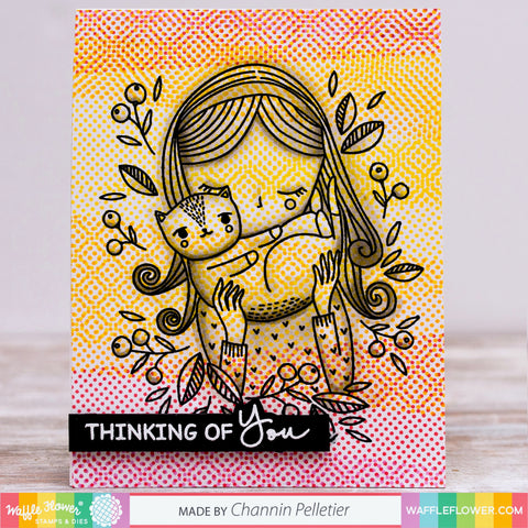 Halftone Background Stamp Set