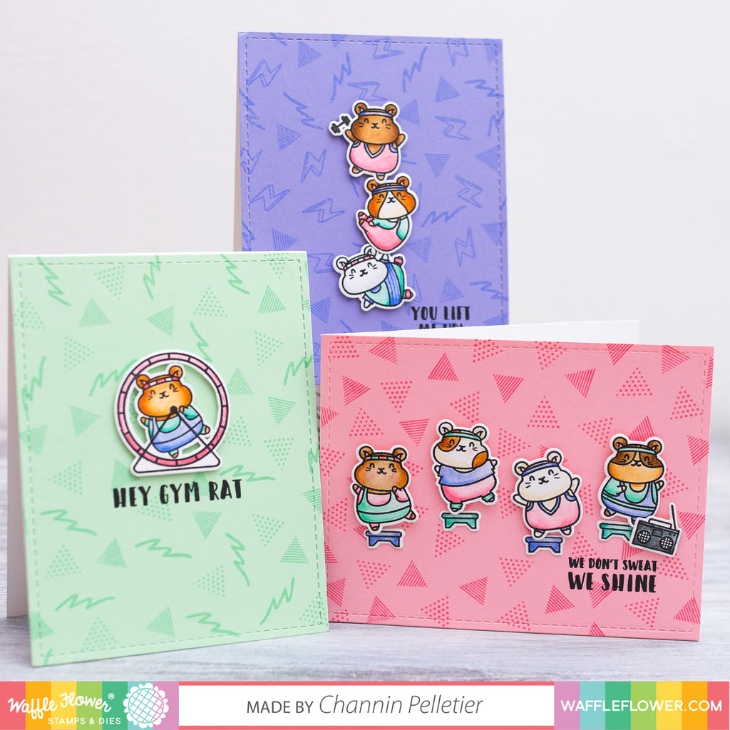 Gym Rat Stamp Set