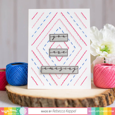 Label Greetings Stamp Set