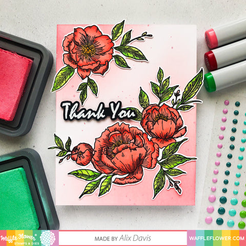 Peony Notes Stamp Set