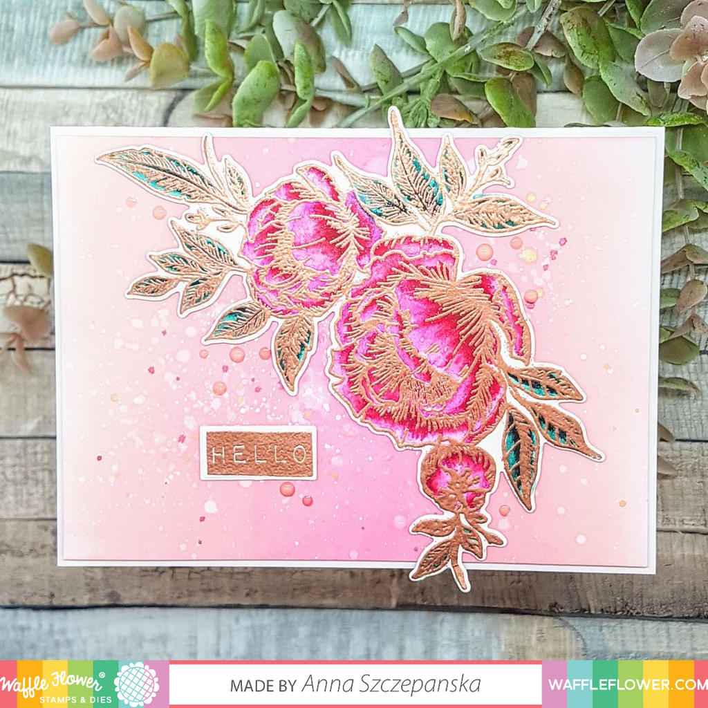 Peony Notes Matching Die