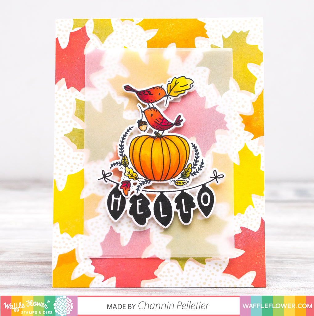 Fall Greetings Matching Die