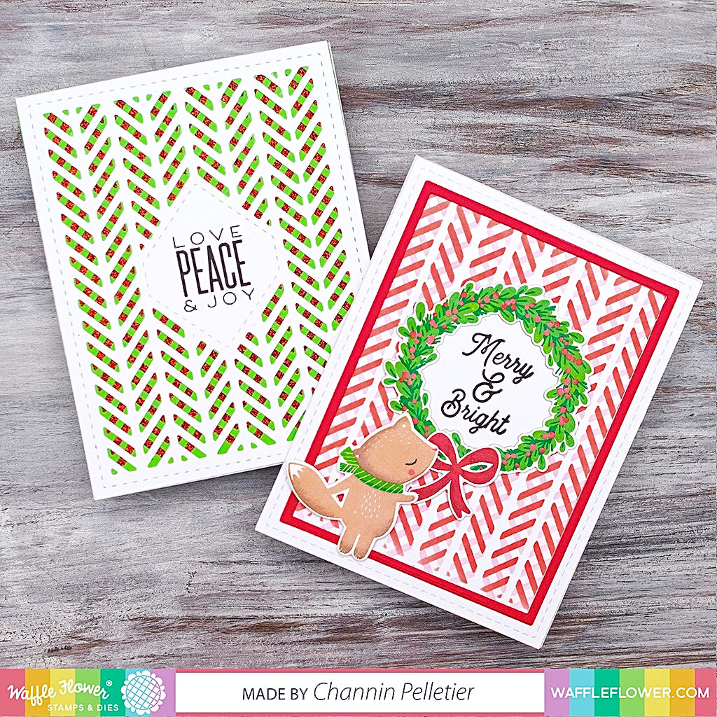 Herringbone Sentiments Stamp Set