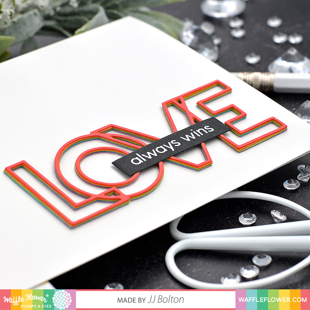 Outline Love Matching Die