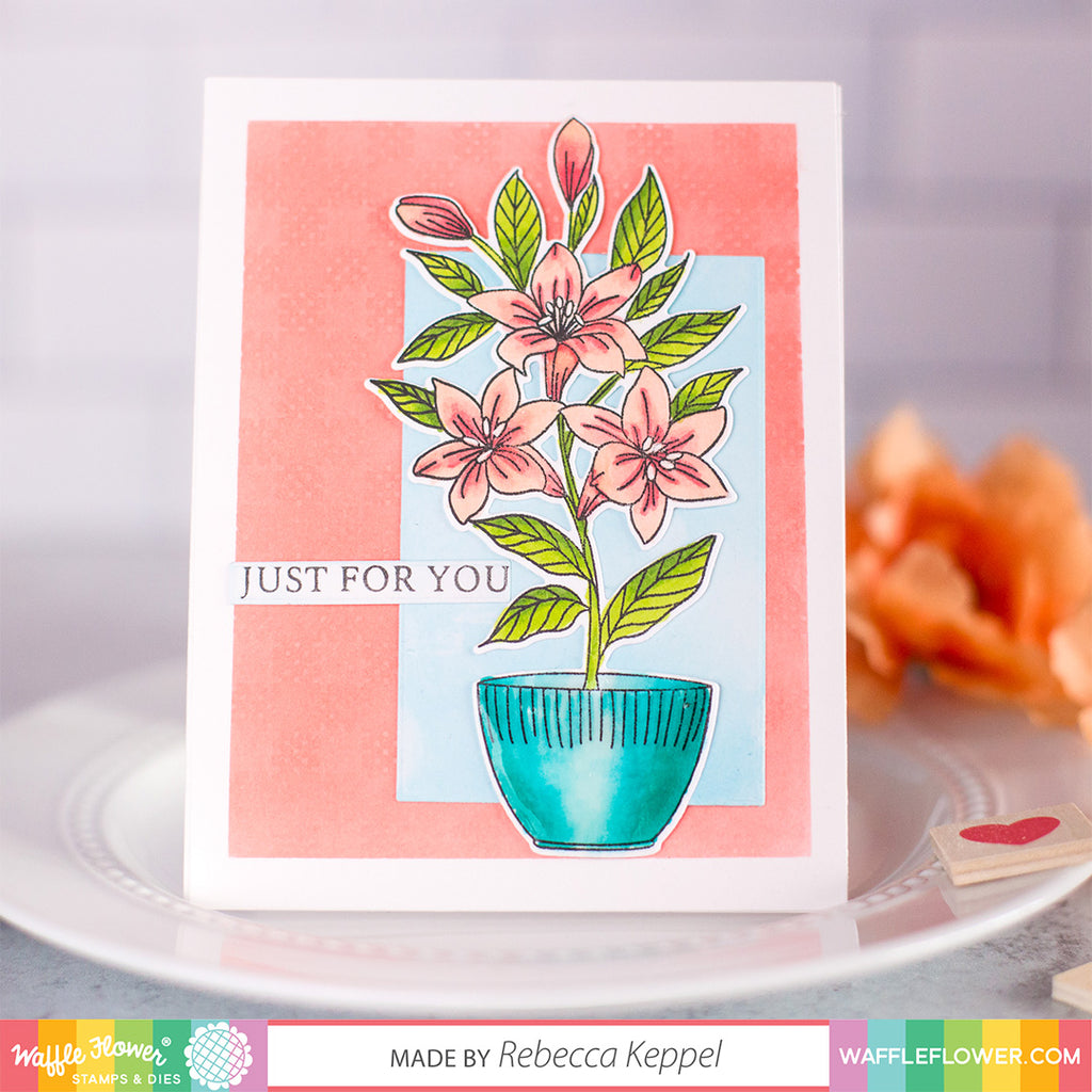 Potted Lily Matching Die
