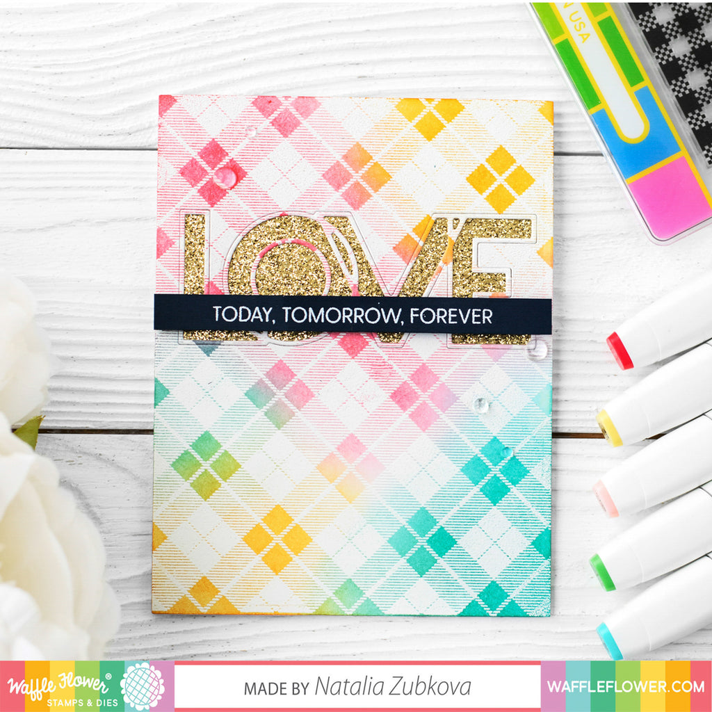 Simply Plaids Stamp Set