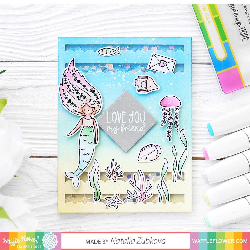Mermaid Mail Stamp Set