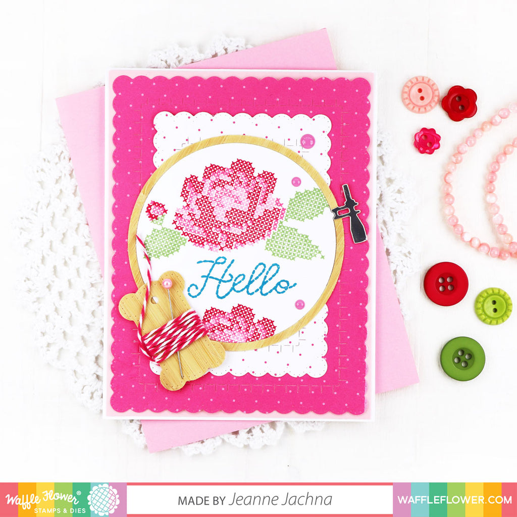 Stitched Roses Stamp Set