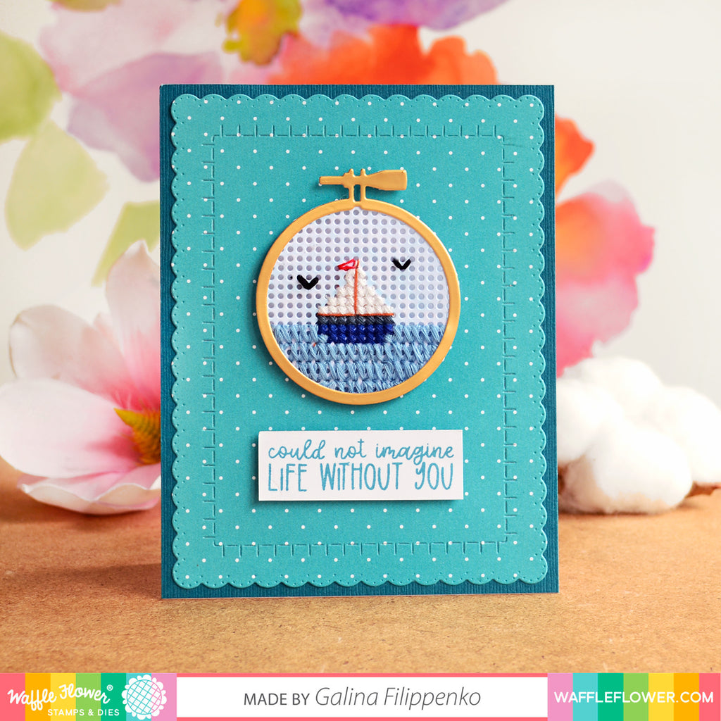 Stitchable Pinking Circle Die