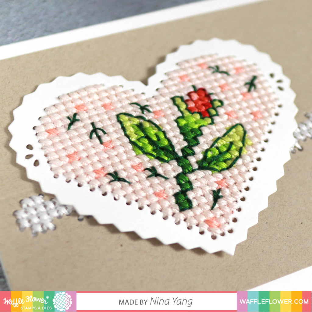 Stitchable Pinking Heart Die