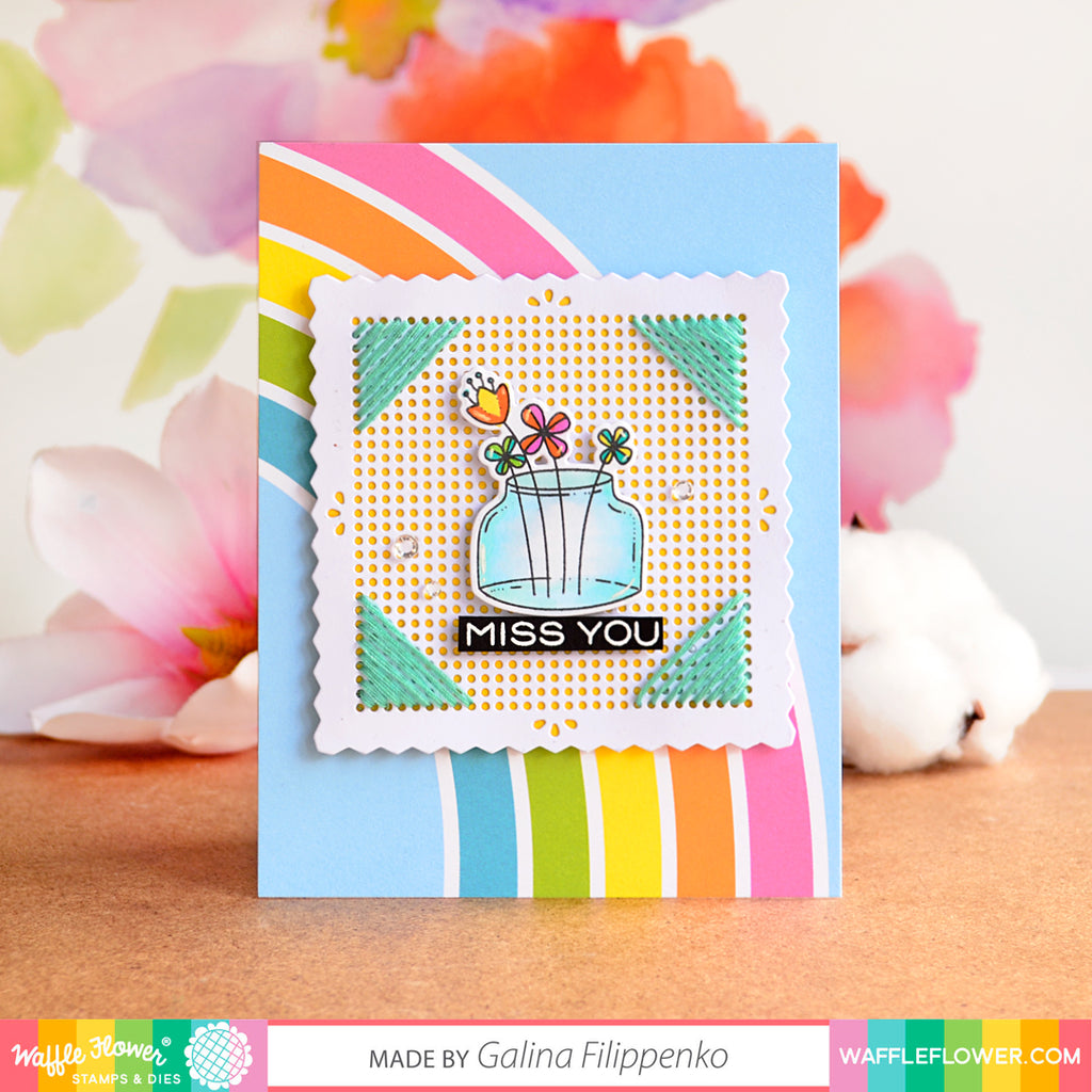 Stitchable Pinking Square Die