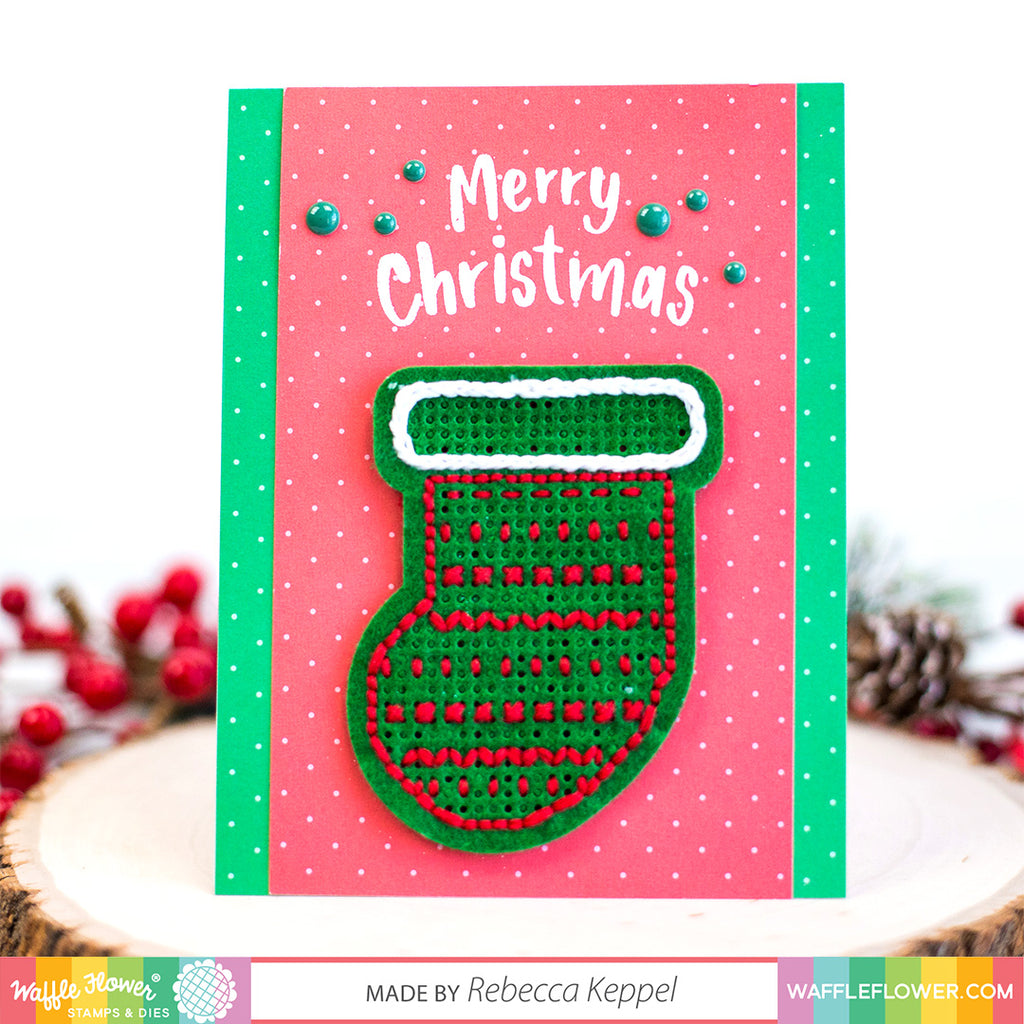 Stitchable Christmas Stocking Die