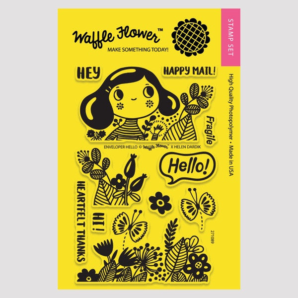 Enveloper Hello Stamp Set