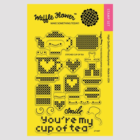 Stitched Cup of Tea Stamp Set