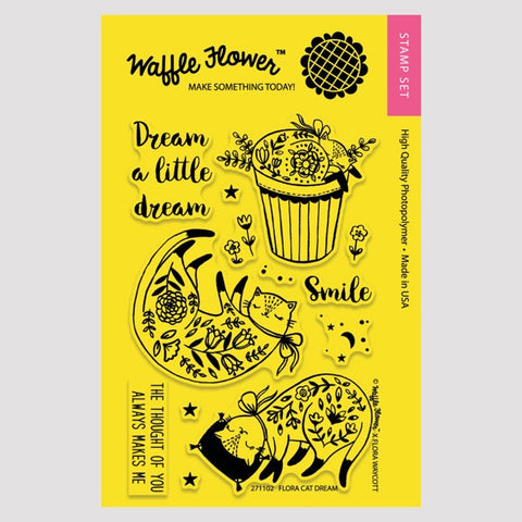 Flora Cat Dream Stamp Set