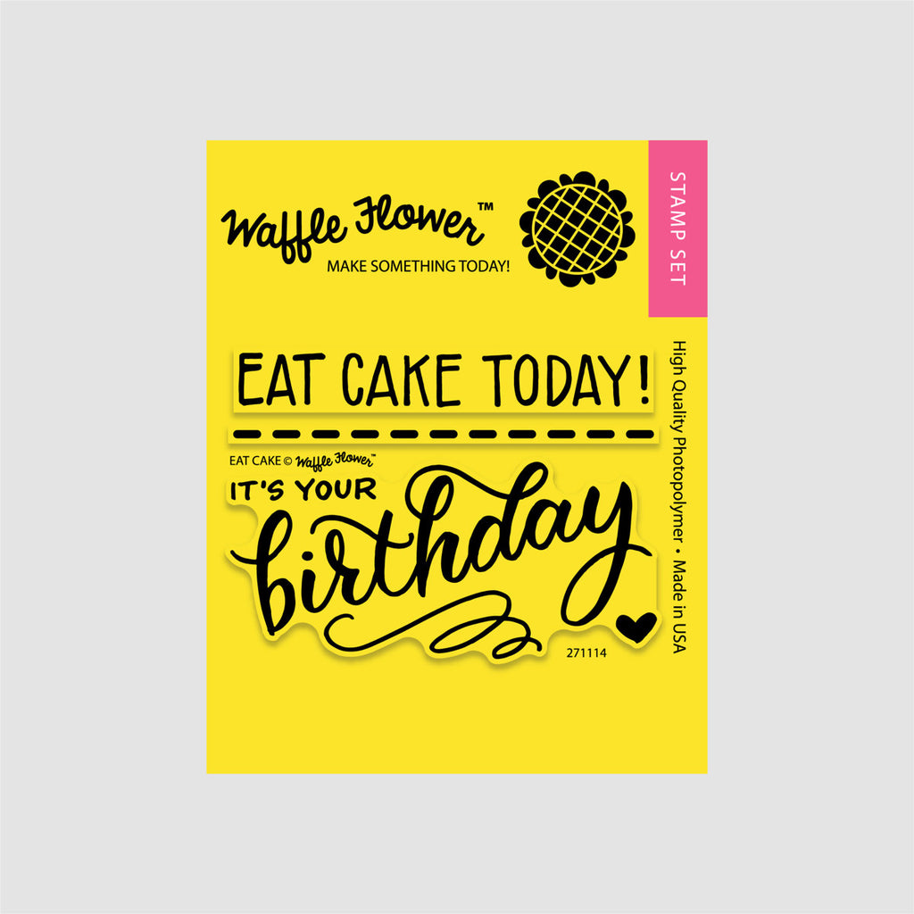 Eat Cake Stamp Set