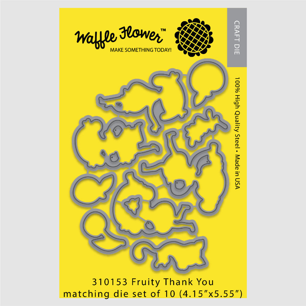 Fruity Thank You Matching Die