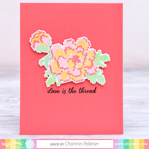 Stitched Peonies Stamp Set