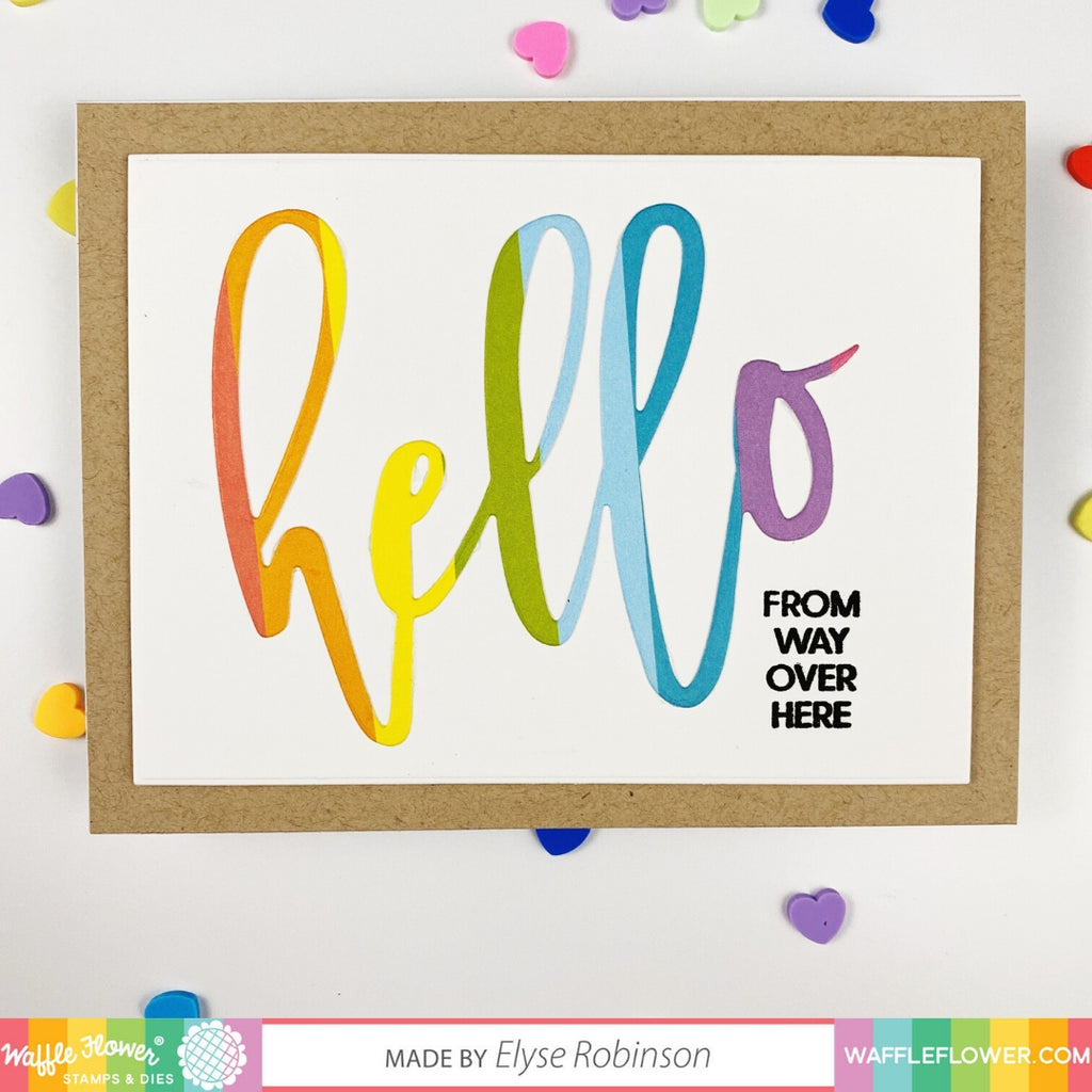 Oversized Hello Stamp Set