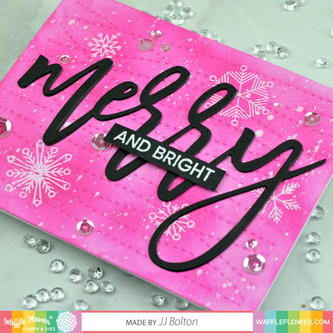 Oversized Merry Stamp Set