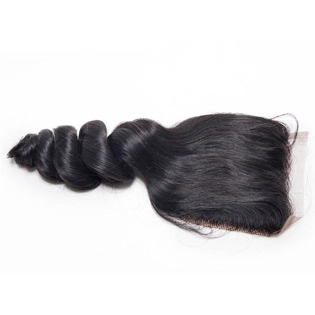 TRANSPARENT LOOSE WAVE CLOSURE BRAZILIAN HAIR BY KARMA BLACK