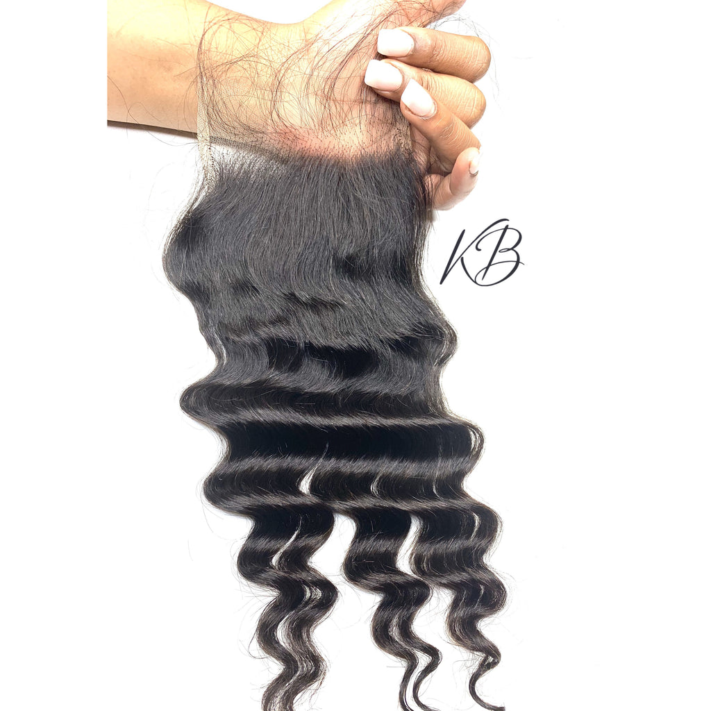 HD Lace Closure Loose Deep Wave Brazilian