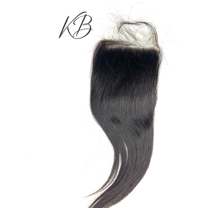 Transparent Lace Closure Straight Brazilian
