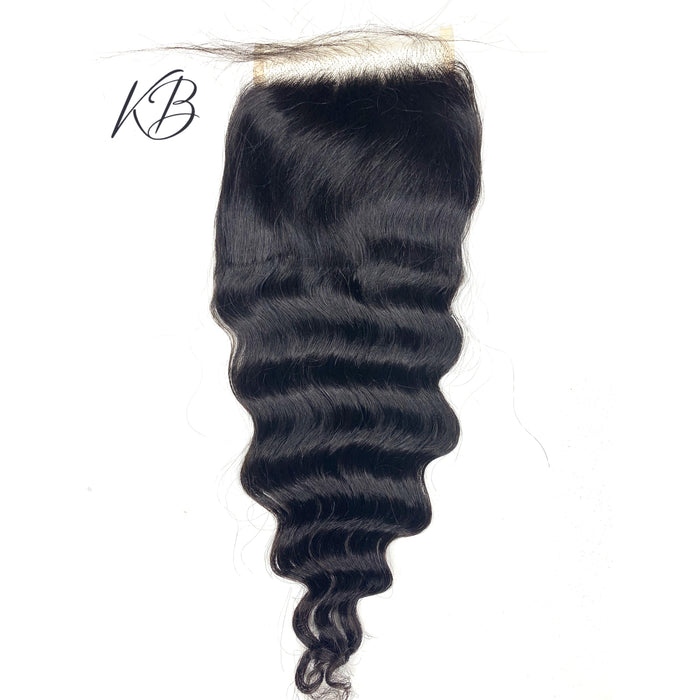 Transparent Loose deep Closure Body Wave Brazilian