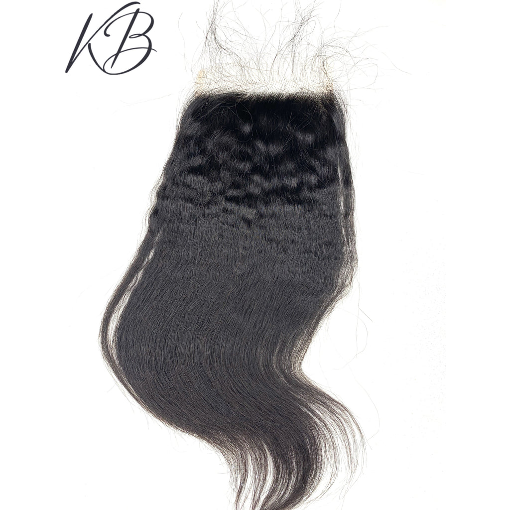 HD Lace Closure Kinky Straight Brazilian