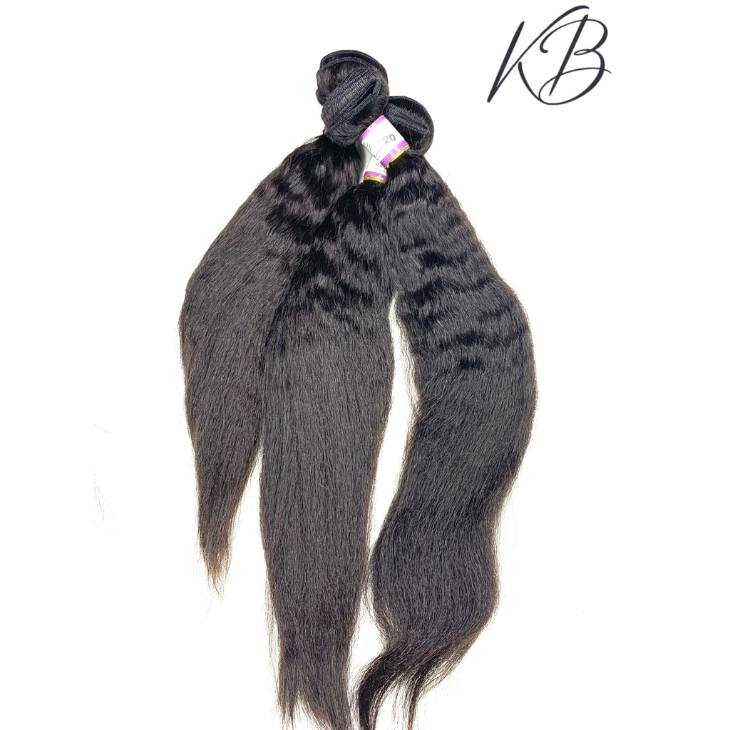 3 pcs BUNDLES KINKY STRAIGHT VIRGIN HAIR