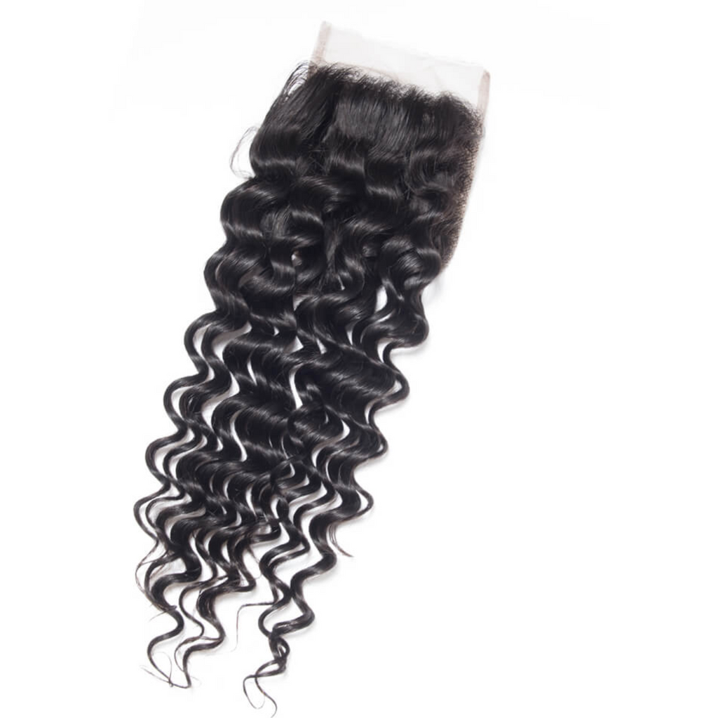 HD Lace Closure Deep Wave Brazilian HAIR BY KARMA BLACK HD Lace Closure Deep wave | illusion lace Closure | Transparent Lace