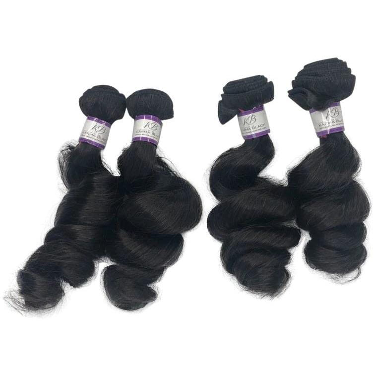 3 PCS BUNDLE LOOSE WAVE VIRGIN HAIR HAIR BY KARMA BLACK Cheap Hair Bundles near me | Cheap HD Lace Frontals | Affordable HD lace
