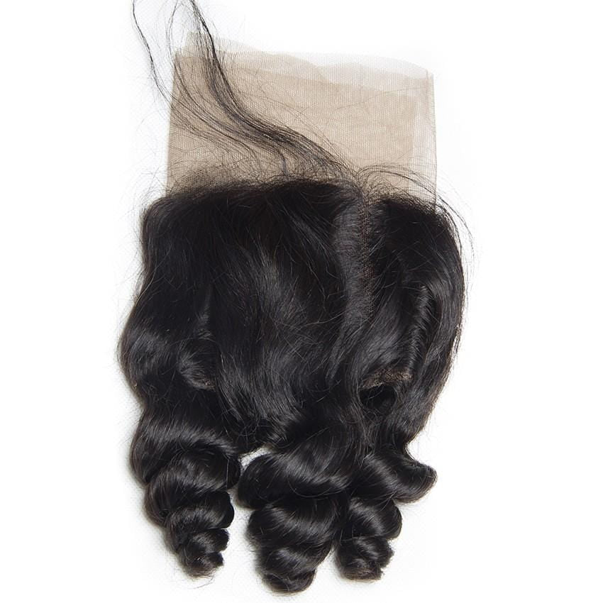 Transparent Lace Frontal Loose Wave Brazilian HAIR BY KARMA BLACK