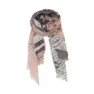 Dark Brown and Peach Color Abstraction Fashion Scarves Wrap - Zestique