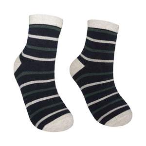 Men's Wide Stripe Design Fashion Crew Socks - Zestique
