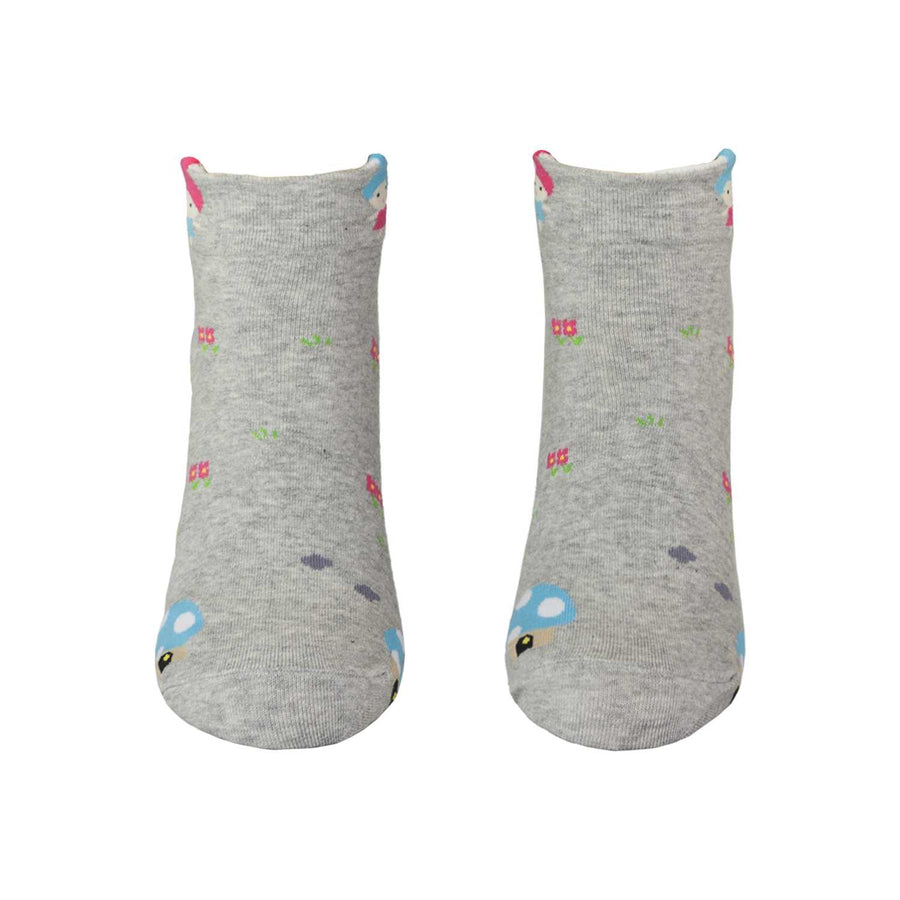 Women's Fairy Tales Socks - Gray - Zestique