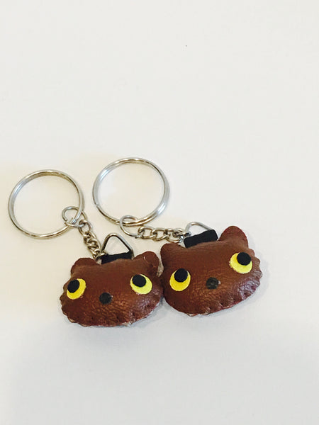 Mini Leather Keychain