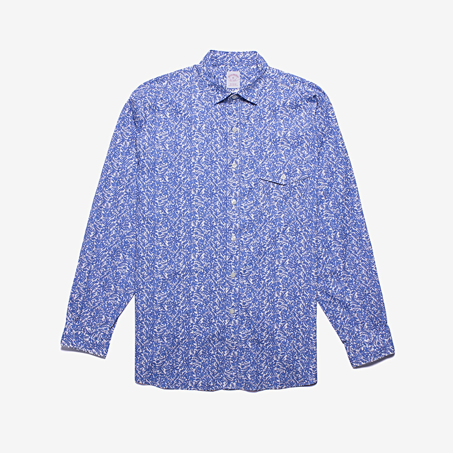 Brooks Brothers / Regular Fit Cotton Printed Shirt