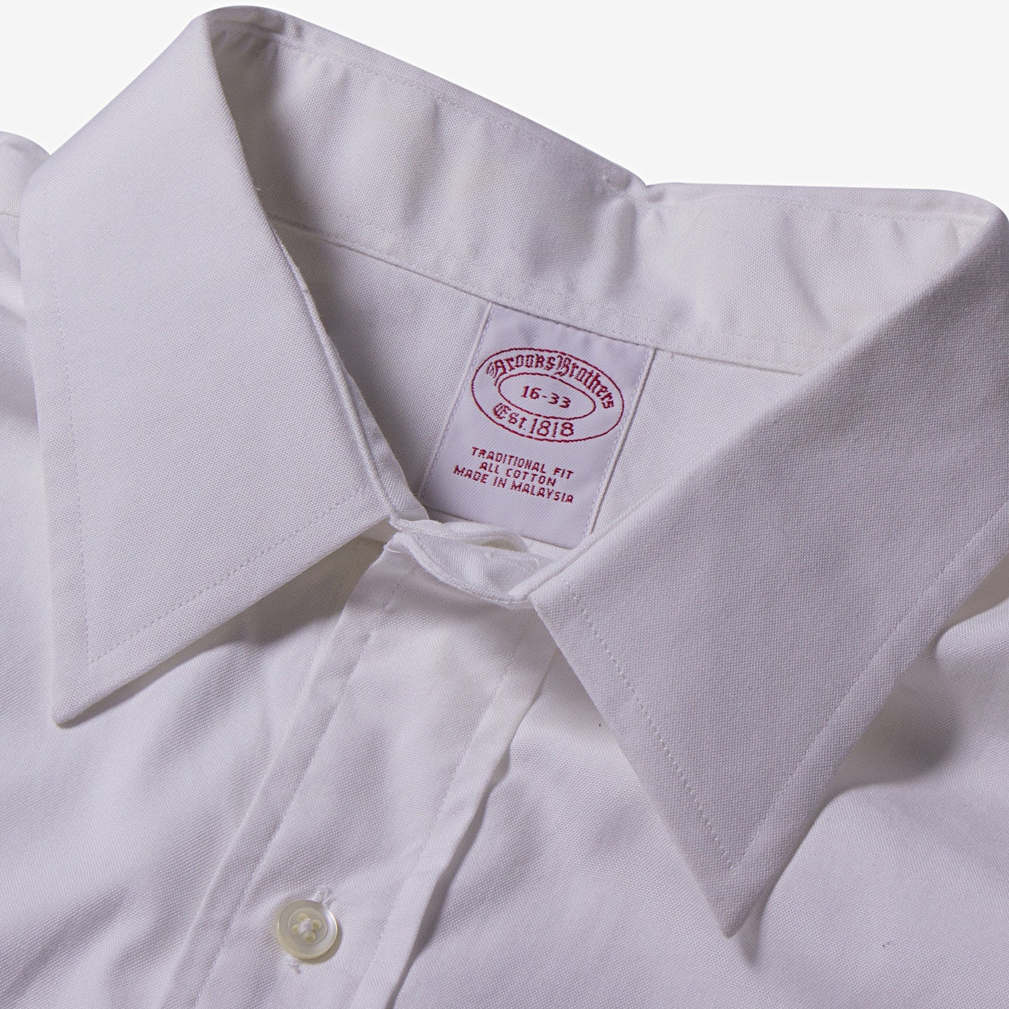 Brooks Brothers / White Traditional Fit Cotton Shirt